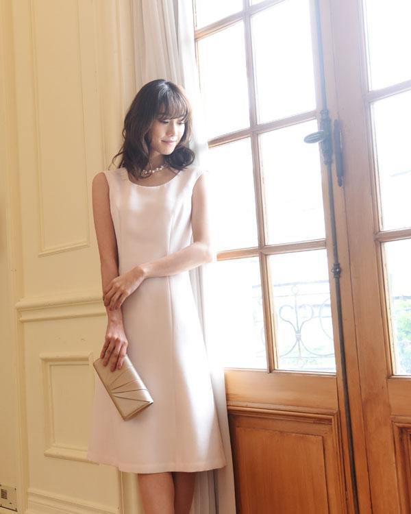 グログランジャカード 米澤織り セミフレアドレス