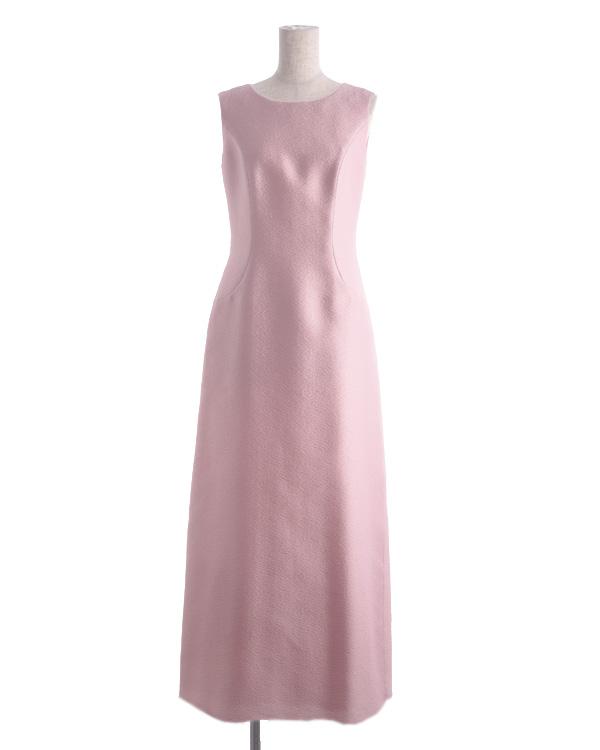 【ピンク 9号】シルク入り シャインジャカード ポイントシフォン ロングドレス 正礼装 共生地ジャケット有り 結婚式 母親ドレス 正礼装 式典